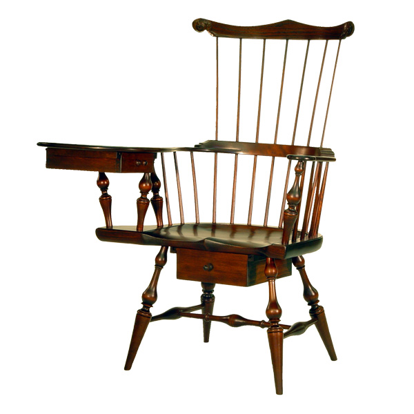 18th Century Antique Reproduction Windsor Chairs Writing Arm Chairs Comb  Back Writing Arm Windsor Chair