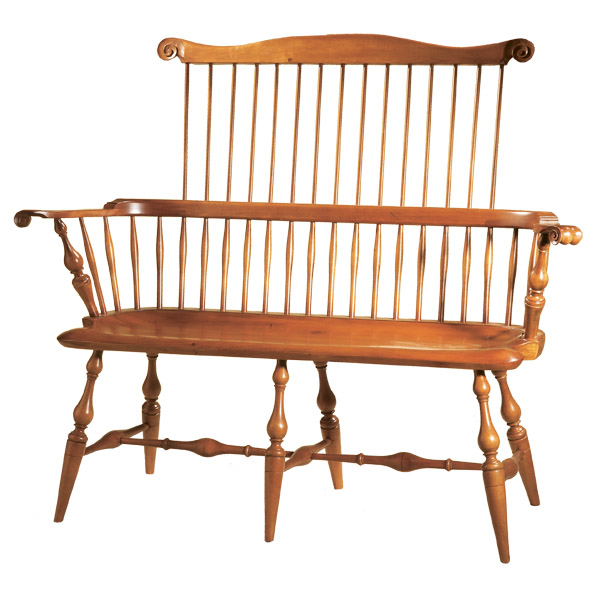 D R Dimes Comb Back Settee Windsor Chairs Benches Settees