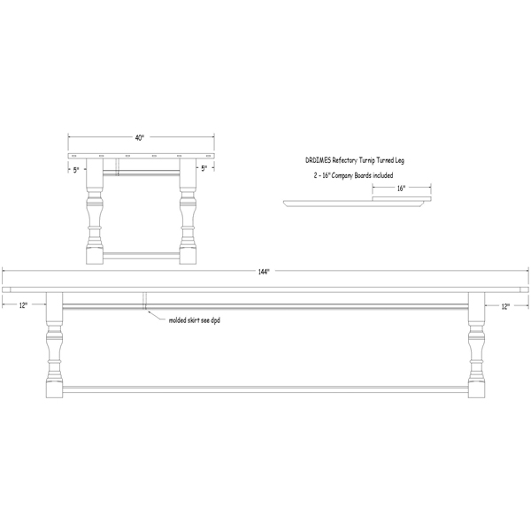 Amazing Drawing of Refectory Table 600 x 600 · 36 kB · jpeg
