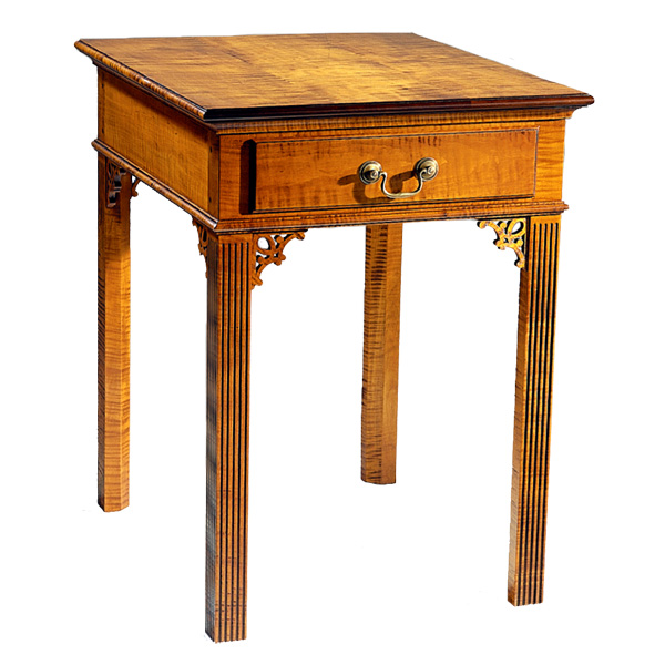 Superieur 18th Century Antique Reproduction Side Tables Chippendale Side Table