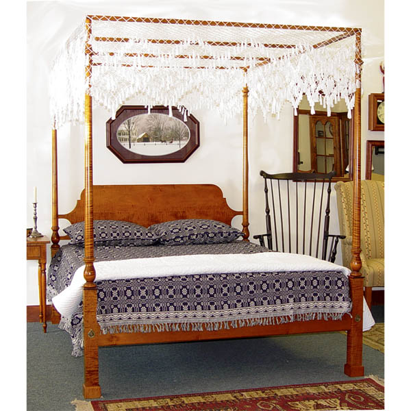 18th century antique reproduction Beds Chippendale Tall Post Bed