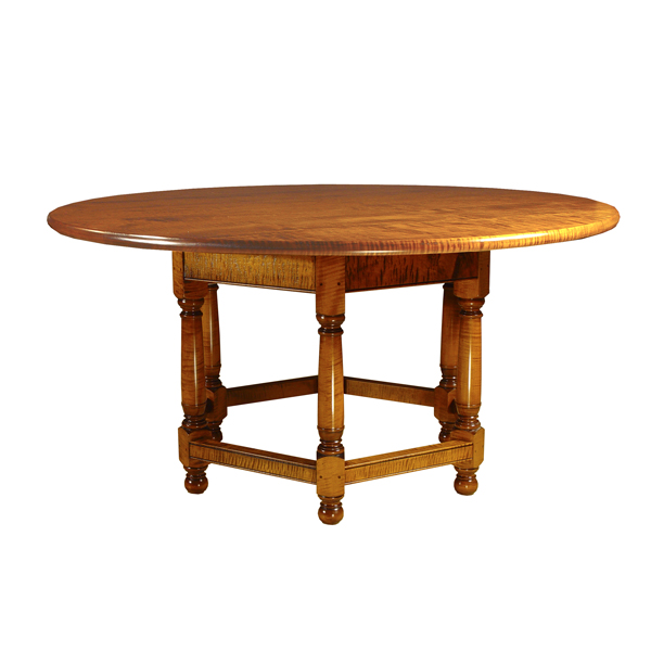 D R Dimes Hexagon Base 60 Round Table Dining Tables