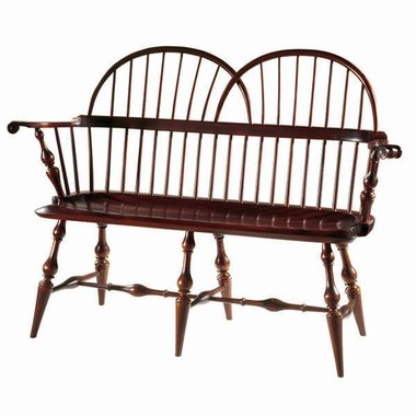 D R Dimes Twin Bow Loveseat Windsor Chairs Benches